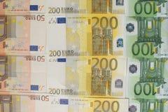 Een partij van eurocontant geld Stock Afbeeldingen