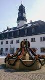 Een Pasen-fontein in Thuringia, Duitsland Stock Afbeeldingen