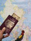Een paspoort aan de Wereld Stock Fotografie