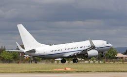 Een passagiersvliegtuig Royalty-vrije Stock Afbeelding