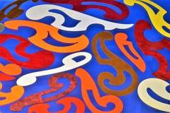 Een patroon-malplaatje voor de bouw van krommen De patroon-Franse lijn is een geschikt hulpmiddel om lessen en creativiteit te tr royalty-vrije stock afbeelding