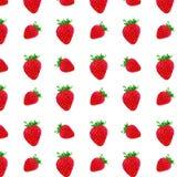 Een patroon van aardbeien Stock Foto