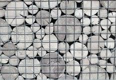 Een patroon van de einden van houten stralen van cirkeldwarsdoorsnede Rebecca 36 Stock Afbeeldingen
