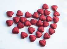 een patroon van kleine harten, de dag van Valentine Royalty-vrije Stock Foto