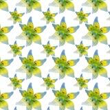 Een patroon van lelies Stock Fotografie