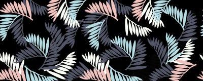 een patroon van tropische bladeren royalty-vrije illustratie