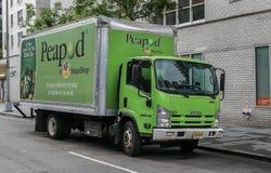 Een Peapod-vrachtwagen stock afbeeldingen