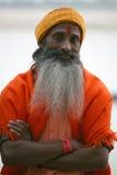 Een pelgrim, Vanarasi, India Stock Afbeeldingen