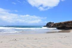 Een Perfecte Dag op Andicuri-Strand in Aruba royalty-vrije stock afbeeldingen