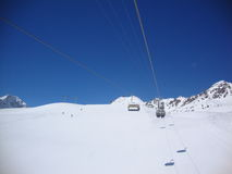 Een perfecte skidag Royalty-vrije Stock Foto