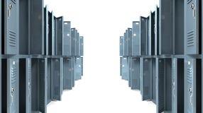 Perspectief van de Doorgang van de school het Kasten Doorzochte vector illustratie