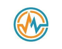 Een pictogram van Brievenlogo business template vector Stock Afbeelding