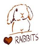 Een pictogram van een konijn Royalty-vrije Stock Foto