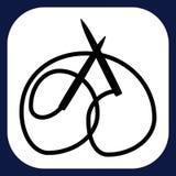 Een pictogram voor met de hand gemaakte goederen Stock Foto's