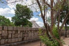 Een Piek in El Castillo Stock Foto