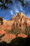 Een piek Zion bij Zonsondergang Stock Foto