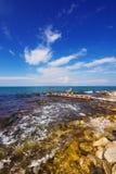Een pier dichtbij de stad van Zakynthos stock foto's