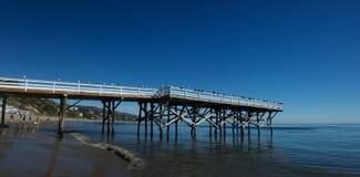 Een pijler Malibu stock afbeeldingen