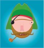 Een piraat stock illustratie