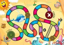 Een piraat boardgame Royalty-vrije Stock Afbeelding