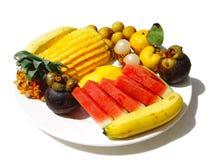 Een plaat met fruit Royalty-vrije Stock Fotografie