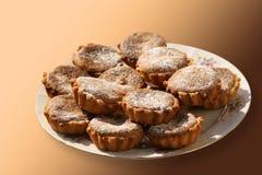Een plaat met koekjes Royalty-vrije Stock Fotografie