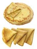 een plaat met pannekoeken Stock Afbeelding