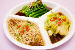 een plaat van groenten Royalty-vrije Stock Foto's