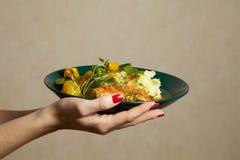 Een plaat van heerlijke maaltijd Royalty-vrije Stock Foto's