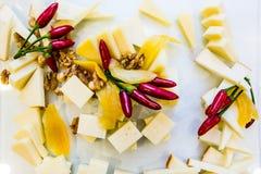 Kaas en peper Stock Foto