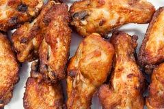 Een plaat van kippenvleugels Royalty-vrije Stock Afbeeldingen
