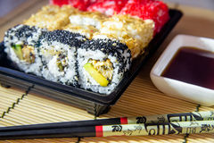 Een plaat van sushi Royalty-vrije Stock Afbeeldingen