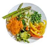 Een plaat van verse groenten Royalty-vrije Stock Foto