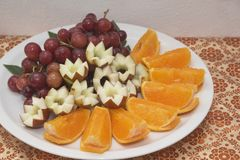 Een plaat van vruchten Royalty-vrije Stock Foto's