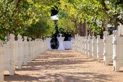 Een plaats waar de huwelijken worden gehouden stock fotografie