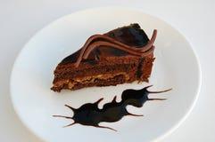 Een plak van cake Stock Foto's