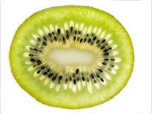 Een plak van kiwi stock foto