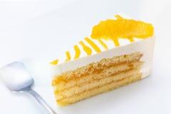 Plak van Oranje Kaastaart Stock Foto