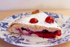 Een plak van pudding Bakewell Stock Foto's