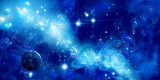 Een planeet is in ruimte Royalty-vrije Stock Afbeeldingen