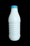 Een plastic fles melk Stock Foto