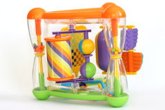 Een plastic stuk speelgoed van het activiteitencentrum Stock Afbeeldingen