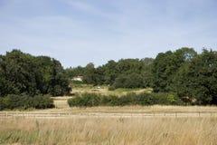 Een plattelandshuisje in een prairie royalty-vrije stock afbeelding