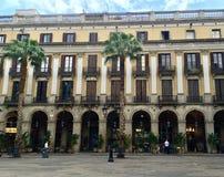Een Plein in het centrum van de Stad van Barcelona royalty-vrije stock afbeelding