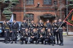 Een ploeg van Marine Stock Foto