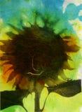 Een plotselinge Wind blies stock illustratie