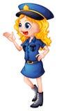 Een politieagente Stock Afbeelding