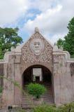 Een poort bij taman het waterkasteel van Sari - de koninklijke tuin van sultanaat van Jogjakarta Stock Foto