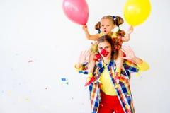 Een portret van een clown stock foto