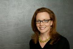 Een portret van een bedrijfsvrouw Royalty-vrije Stock Afbeeldingen